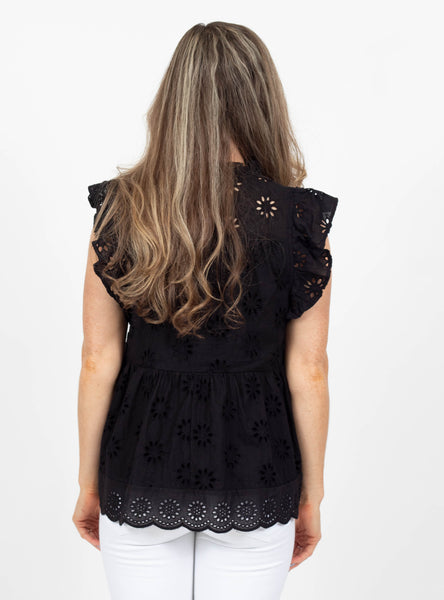 New Rules Black Lace Top