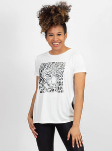 Try Me Leopard Graphic Tee