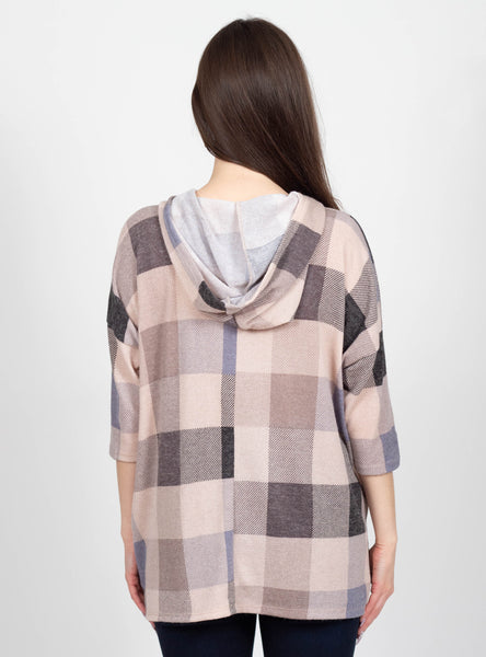 Quaint Destination Plaid Poncho