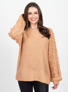 Make the Cut Camel Sweater
