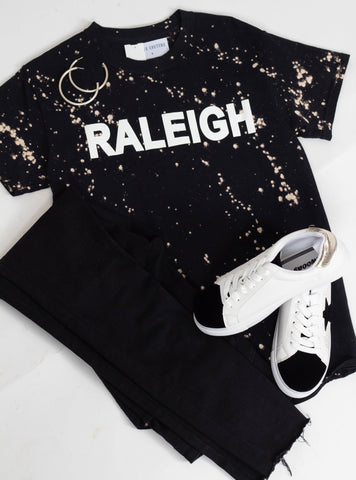 """Raleigh"" Tie Dye Graphic Tee"