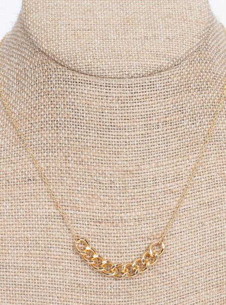 Stacey Chain Linked Necklace-Gold