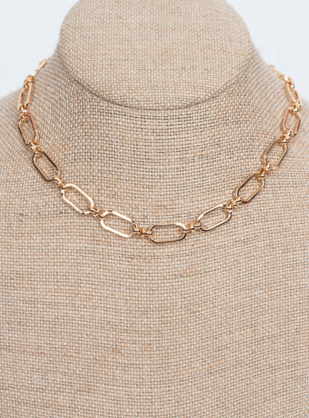 Melissa Boxy Necklace-Gold
