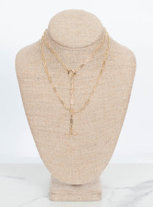 Brittany Chain Wrap Necklace-Gold