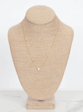Lucy Single Pearl Necklace