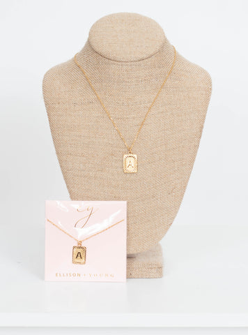 Ellison & Young Initial Necklace-Square
