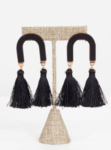 Houston Arch & Tassel Earrings