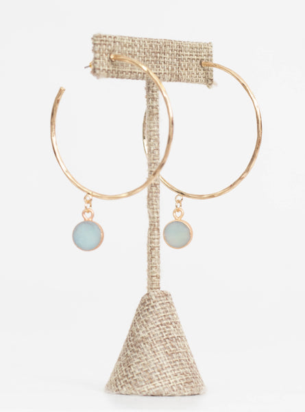 Mesa Stone Dangle Earrings-Seafoam