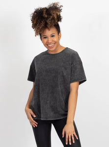 No Pressure Black Oversized Top