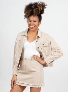 Echo Beige Denim Jacket