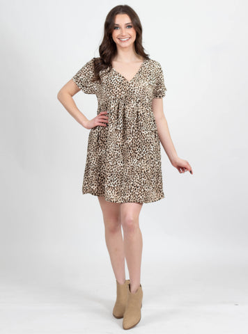 Chase You Down Leopard Dress