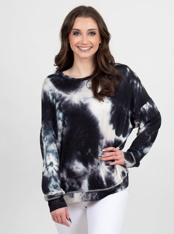 Pitch Black Tie Dye Sweatshirt