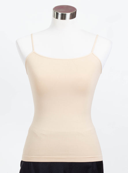 Nikibiki Thin Strap Regular Length Cami-Nude
