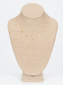 Christina Multi Bolt Necklace-Gold