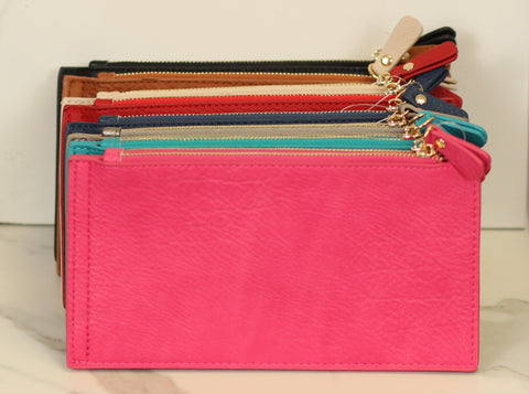The Hannah Double Zip Snap Wallet