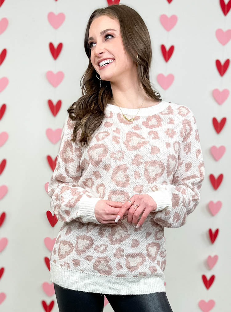Soul Mate Pink Leopard Sweater