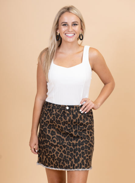 The Wild One Skirt - Leopard
