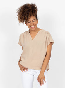 Hopes And Dreams Taupe Top