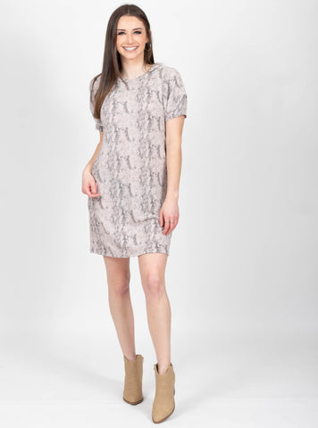 Secret Garden Grey Snake Dress