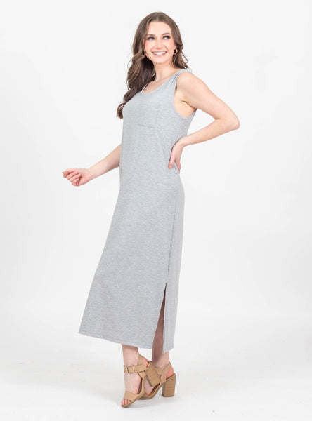 All Yours Grey Midi Dress