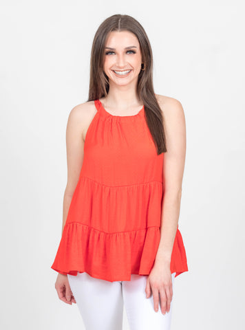 Sunset City Orange Halter Top