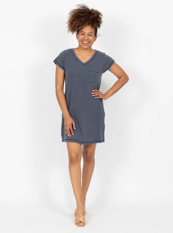 Constant Motion Indigo T-Shirt Dress