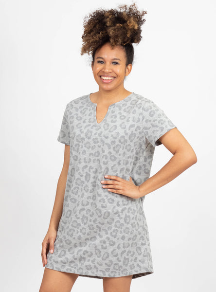 Turning Point Grey Leopard Dress by Mudpie