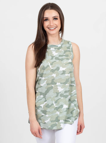 Our Time Sage Camo Tank