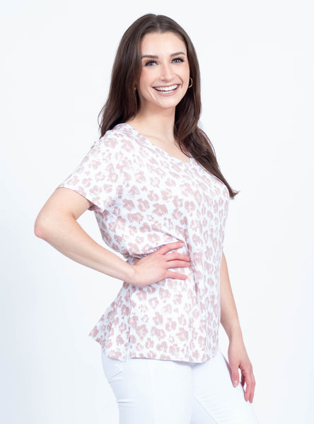 Untamed Blush Leopard Tee