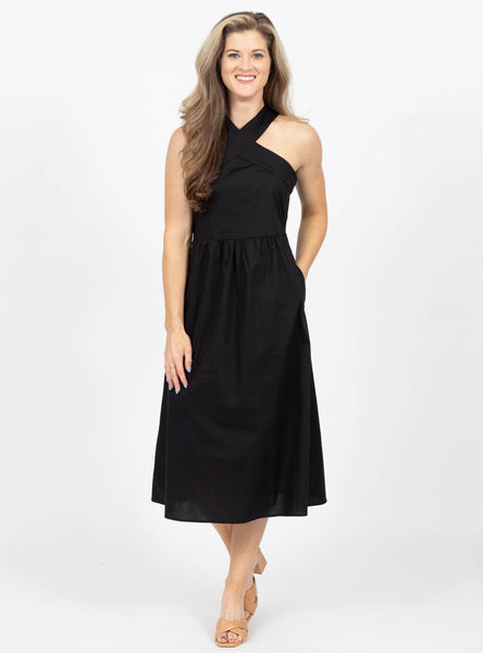 All Nighter Black Halter Dress