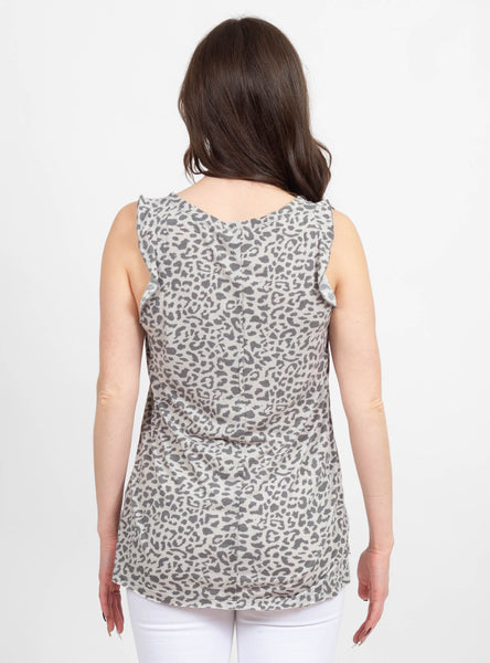 Set Free Grey Leopard Tank