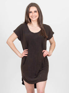 Far Away Black T-Shirt Dress