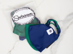 Bottle Green/Navy Facemask-Set of 2