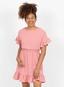 Alluring Charm Rose Dress