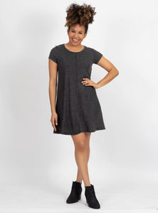 New Strategy Charcoal Ribbed Dress