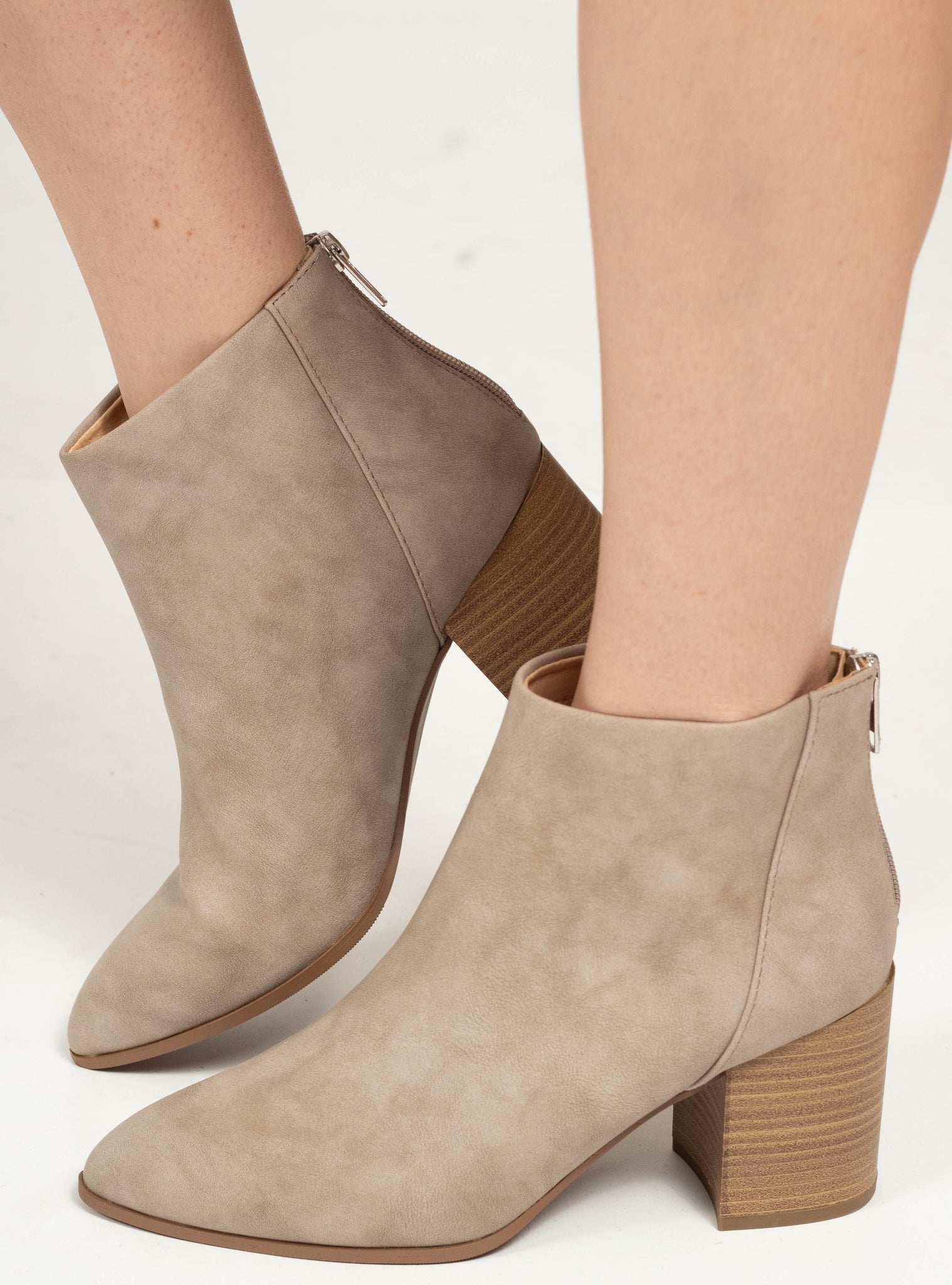The Mars Booties - Taupe