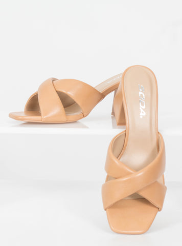 Twist Natural Heeled Sandals