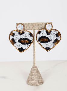 Leopard Heart Earrings
