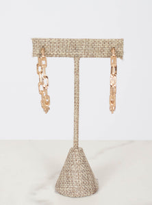 Chain Hoops - Gold