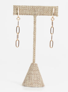 Madison Bar & Chain Earrings-Gold