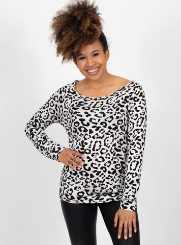 Flair for Drama Leopard Top