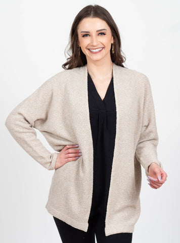 New Beginnings Oatmeal Cardigan