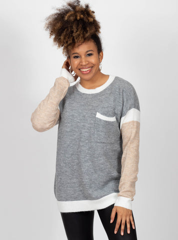 Whatever It Takes Colorblock Sweater