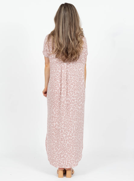 Powerful Thing Blush Leopard Maxi