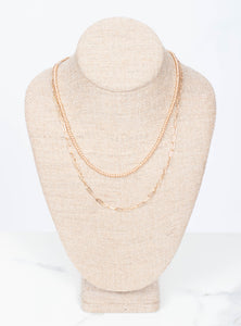 Gold Two Strand Necklace
