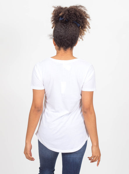 New Beginnings White Pocket Tee by Z Supply