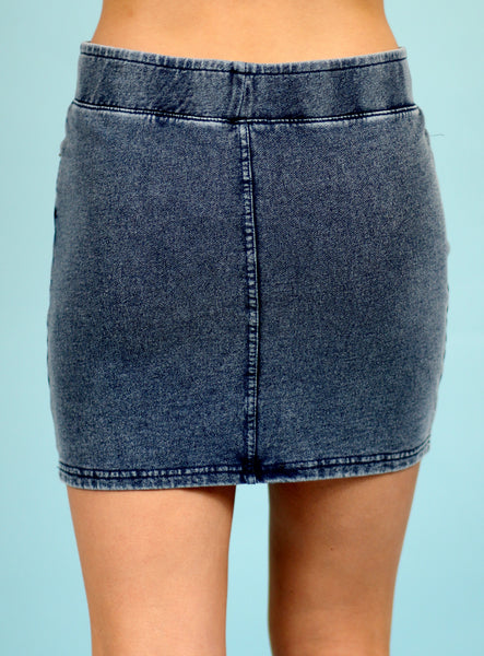 The Knit Denim Skirt