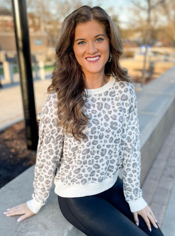 Soft Spots Leopard Top