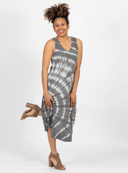 Beachin' Charcoal Tie Dye Dress