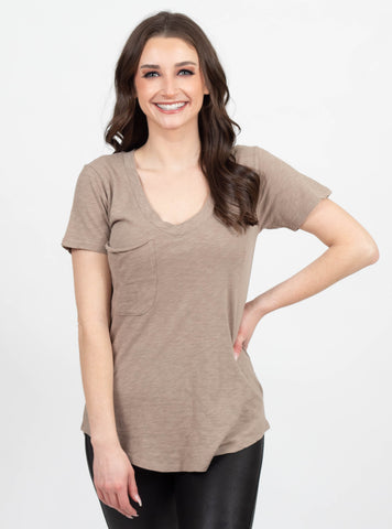 Coffee Run Taupe Tee by Z Supply